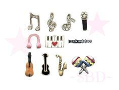 Floating Charms for Memory Locket MUSIC by MyStonebridgeDesigns