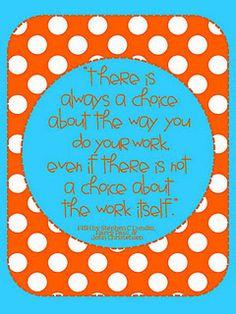 free motivational printable to encourage good work habits and attitude.