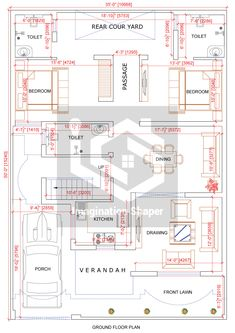 2bhk House Plan, Free House Plans, Three Bedroom House Plan, Model House Plan, Duplex House Plans, Family House Plans, Bungalow House Design, House Floor Plans, 30x50 House Plans