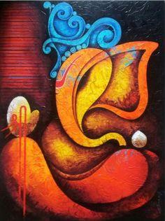 38 Best Ganapathi Paintings Images In 2019 Ganesha