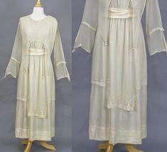 78a3a3ffef88 Antique Edwardian Wedding Dress