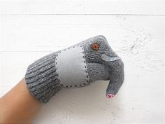 Elephant Gloves Puppet Elephant Puppet Gloves Gray  Grey by talkingloves, an Etsy shop based in Istanbul, Turkey