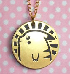 Pikachu shiny battle coin necklace by LolitaTortoise on Etsy, $8.00