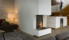 Ook #Bellfires View Bell Vertical 3 komt uit de View Bell serie van Bellfires. #Gaskachel #Gashaard #Kampen #Interieur #Fireplace #Fireplaces