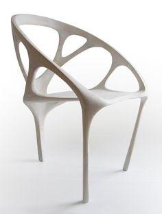 organic design white wood chair
