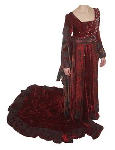 Maria's Red Pearl Dress (Secret of Moonacre)