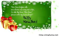 Awesome 2015 New Year green card with wishes