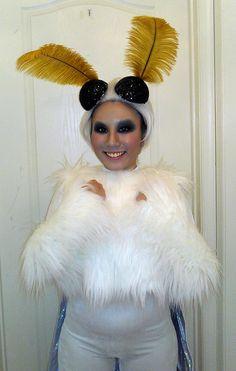 Poodle moth costume.
