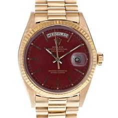 Rolex DayDate ref 1803 with maroon dial, awesome!