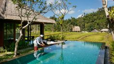 Balinese and Asian cuisine are served at the Sawah restaurant, and light snacks and drinks are on offer at the Pool Bar or The Library. http://www.theluxurylisting.com/mandapa-by-ritz-carlton-reserve/