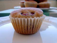Bocadinhos de Açúcar: Muffins de cereja e chocolate branco