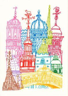 Oxford Towers  Art Print