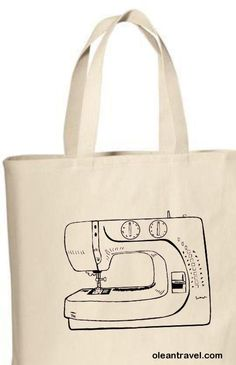 Tote Bag, Sewing Machine Tote Bag, Sewing Machine Bag, Party Favors, Party Gift Bags, Reusable, Carry All Bag, Travel Bag, Custom Tote Bags - http://oleantravel.com/tote-bag-sewing-machine-tote-bag-sewing-machine-bag-party-favors-party-gift-bags-reusable-carry-all-bag-travel-bag-custom-tote-bags