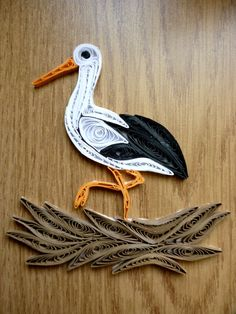 Quilling stork