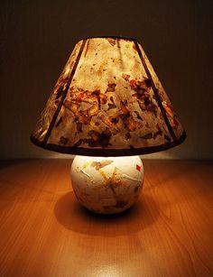 Night lamp with handmade paper...