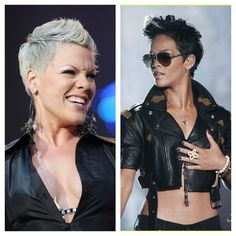 Pink (2006) vs Rihanna (2008) - this was Pink's style since years