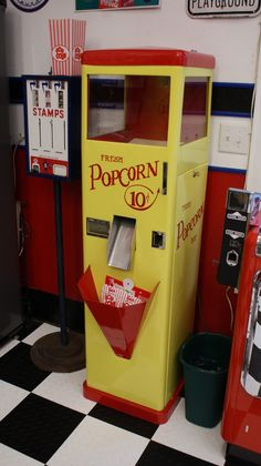 vintage popcorn vending machine - Google Search
