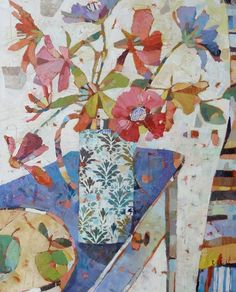 Paintings - Sally Anne Fitter  Could use scrap paper to make something similar?