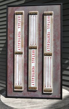 """Install Vertically"" Wall Sculpture - Wood & Rusty Metal. Modern Folk Art by Rob Johnston"