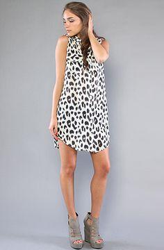 cute little spotted shirtdress $53 #leopard