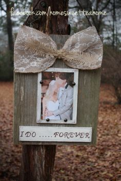 Rustic wedding frame www.facebook.com/homesweetteahome