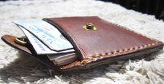 Snap Leather Wallet Men Wallet Custom Leather Card Holder