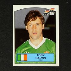 Image result for tony galvin panini sticker euro88 Baseball Cards, Stickers, Sports, Image, Hs Sports, Excercise, Sticker, Sport, Decal