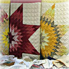 Vintage Lone Star Quilts  I have made two and may very well want to try a third.  The Eagle Extra in Fairfax, MN has one of mine hanging right now.