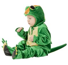 Everyone will be all smiles when they see this cute alligator Halloween costume at the front door. | Baby Over Load | Pinterest | Alligators ...  sc 1 st  Pinterest & Everyone will be all smiles when they see this cute alligator ...