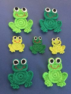 Get this free crochet pattern of this crochet frog at Kerri's Crochet. Get this free crochet pattern of this cute little crochet frog at Kerri's Crochet. The pattern also has a free video tutorial. Crochet Frog, Crochet Unicorn, Crochet Teddy, Cute Crochet, Crochet Crafts, Crochet Toys, Crochet Baby, Crochet Projects, Knitted Dolls