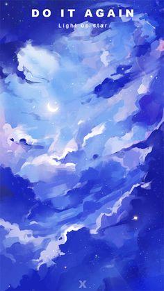 X to by xinxin liu on ArtStation. Fantasy Art Landscapes, Fantasy Landscape, Fantasy Artwork, Landscape Art, Anime Scenery Wallpaper, Wallpaper Backgrounds, Pretty Art, Cute Art, Japanese Drawings