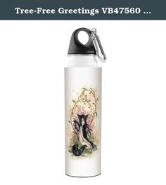 Tree-Free Greetings VB47560 Amy Brown Fantasy Artful Traveler Stainless Water Bottle, 18-Ounce, Little Wolf Sister Fairy. Tree-Free Greetings strives to use the most eco friendly materials and processes possible. Printed and assembled in the USA, The Tree-Free Greetings Artful Traveler Stainless Water Bottle is vibrantly printed with hard to find Fantasy Little Wolf Sister Fairy themed art and is great for everyday use. This 18-8 stainless bottle is printed with VOC-free, solvent-free...