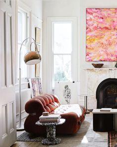 on trend: bohemian whimsy. Living Room Inspiration, Interior Inspiration, Rachel Griffiths, Mug Design, Vintage Wall Sconces, Melbourne House, Vogue Living, Traditional Lanterns, Elle Decor