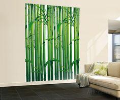 Wallpaper Mural Tricks: How to Choose and Install Normal Wallpaper, Print Wallpaper, Home Wallpaper, Mural Wall Art, Framed Artwork, Spa Interior Design, Bamboo Wall, Tropical Art, White Walls