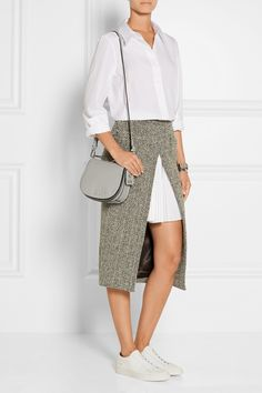 Karl Lagerfeld | Textured-leather satchel | NET-A-PORTER.COM