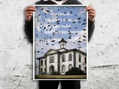 The Birds movie poster retro style. #hitchcock #postermovie #retromovie #posterfilm #quotemovie #quotefilm #wallart #2toastdesign #retroposter