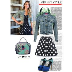 Get the look of Jessica Alba in jean jacket and polka dot skirt. Visit www.forarealwoman.com