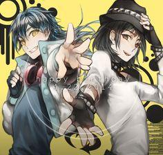 Aoba and sei from dmmd game! HBD Aoba n Sei Beauty Killer, Deadman Wonderland, Dramatical Murder, The Brethren, Anime Life, Shounen Ai, Tokyo Ghoul, Manga Art, Deviantart
