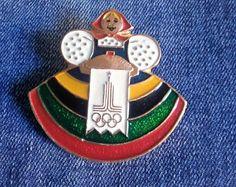 Редкий Советский значок олимпиада 80, значки СССР , русская красавица, значки, спортивные значки. Олимпийские Игры 80
