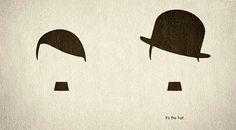 Charlie Chaplin The Great Dictator minimalist poster