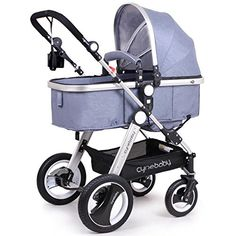 Cynebaby Newborn Baby Stroller for Infant and Toddler City Select Folding Convertible Baby Carriage Luxury High View Antishock Infant Pram Stroller with Cup Holder and Rubber Wheels Linen Blue *** Click image for more details.-It is an affiliate link to Amazon. #BabyStrollers