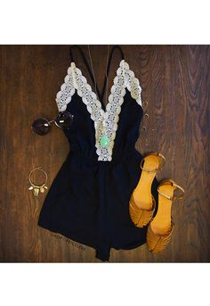 Love Quest Lace Romper NEED THIS!! $27.97