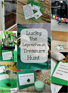 Lucky the Leprechaun Treasure Hunt :: Details on H St Patricks Day Crafts For Kids, St Patrick's Day Crafts, Holiday Crafts For Kids, Holiday Fun, March Crafts, Lucky The Leprechaun, Leprechaun Trap, Saint Patrick's Day, St. Patricks Day