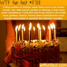 Why do we put candles on birthday cakes? - WTF fun facts
