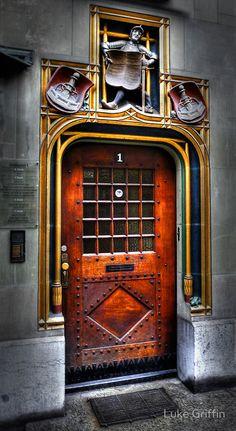 Find me a door like this! Bern Door by Luke Griffin,Switzerland Door Knockers, Door Knobs, Door Handles, Cool Doors, Unique Doors, Portal, Entrance Doors, Doorway, Porches