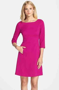 Vince Camuto Vince Camuto Crepe A-Line Dress (Regular & Petite) available at #Nordstrom