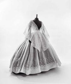 Crinoline-era skirt and fichu, 1865-70 | In the Swan's Shadow