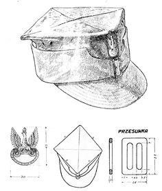 Rogatywka polowa wz.37 wojska polskiego / Pattern 1937 Polish Army field cap. Poland Ww2, Invasion Of Poland, Blue Army, Military Insignia, United States Army, Panzer, Vintage Knitting, Armed Forces, Troops