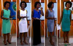 Looks da Maria Julia Coutinho no Hora 1 de 1º a 5 de dezembro