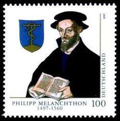Philipp Melanchthon 1497-1560 Stamp